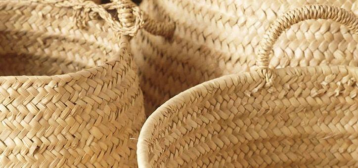 Artesania mallorquina, trabajod de cestería